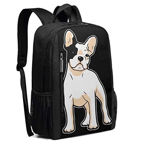 Frenchie Bulldog School Rucksack College Bookbag Lady Travel Backpack Laptop Bag for Boys Girls