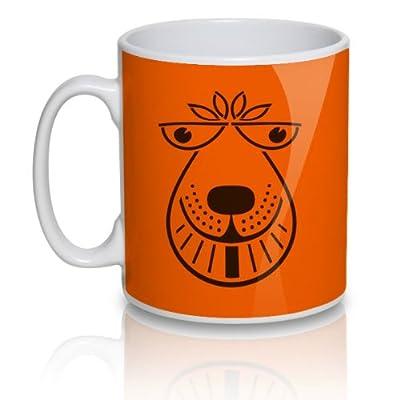 Orange Space Hopper Mug 1970s