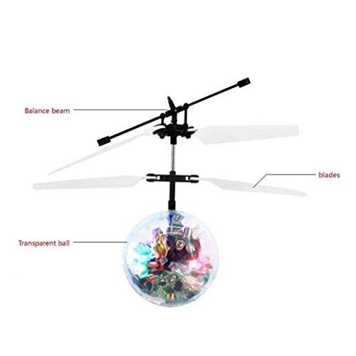 Koly Juguetes que vuelan a distancia RC bola de infrarrojos de inducción Mini Aviones luz intermitente para niños(> 8 años)