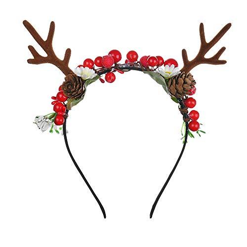 Hoofdband Hoofddeksels Garland Hoofdband Mode Rode Antlers Kerstmis Hoofdbanden Moer Hoofdbanden Diy Foam Fruit Haarbanden