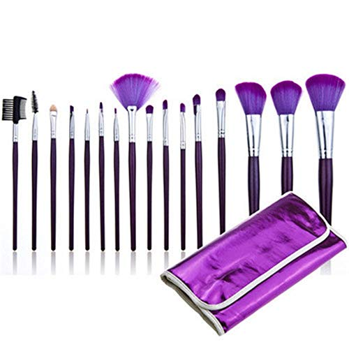 Brosse de maquillage Set Cosmetic Brush Set -16 Pcs Kit De Pinceau De Maquillage Professionnel Pour Traceur Pour Les Paupières Eyeliner Utiliser Le Pinceau Pour Le Visage Cosmétiques Set Brosses