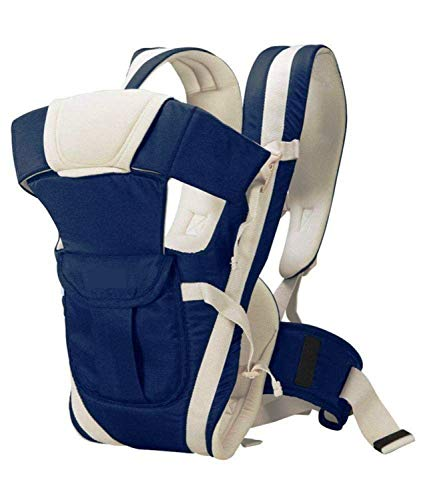 Nagar International Soft Baby Carrier 4 in 1 Position with Comfortable Head Support & Buckle Straps (Blue)