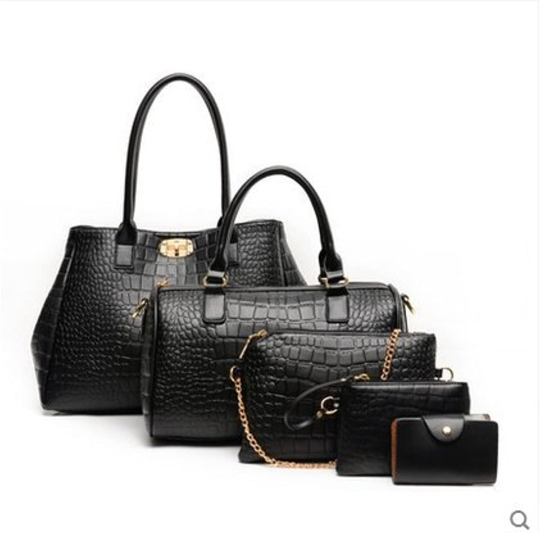 Xh bbag Frauen bun Mutter Mutter Mutter Tasche fünf Stücke des Europäischen und Amerikanischen Frauen Schulter Handtasche B0796S9VGC  Bestätigungsfeedback 52abc5