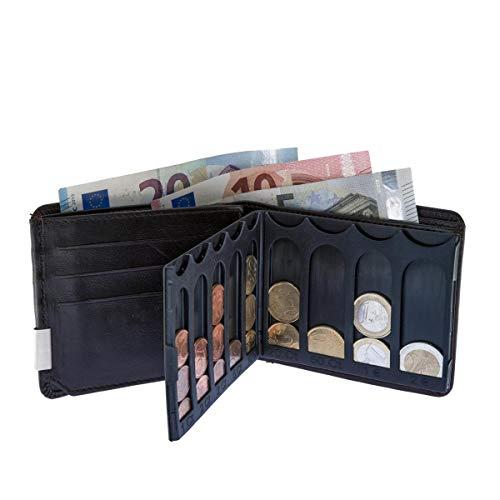 EiMiX Nappa Plus braun - die Neue Geldbörse für Münzen schnell flach Sortiert