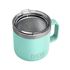 The YETI Rambler 14 oz Mug is the toughest, most over-engineered camp mug out there The full-loop Triple Grip Handle is comfortable for wider hands, so you can fit your mitts fully around your morning joe Duracoat color means no scratching, peeling, ...