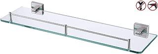 KES Bathroom Glass Shelf 1 Tier Shower Caddy Bath Basket Stainless Steel RUSTPROOF Wall Mount NO Drilling Brushed Finish, A2420ADG-2