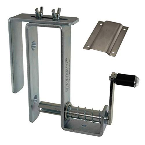 STRAPY® - DER Spanngurtaufroller - mit Edelstahl-Halteplatte und Bordwandhalter - Hilfe bei Gurten und Ladungssicherung