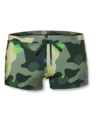 Arena M Yoshi Short, Pantaloncino Nuoto Uomo, Verde (Wood Green Camo), 46