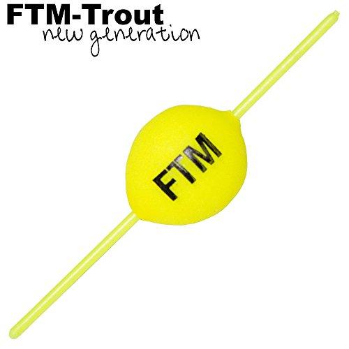 FTM Steckpiloten gelb - Pilotkugel zum Forellenangeln, Forellenpose, Forellenschwimmer, Pilotpose für Forellen, Schwimmkugel, Durchmesser:12mm