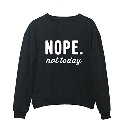 YITAN Women Graphic Cute Sweaters Funny Pullover Teen Girls Sweatshirts Black Large
