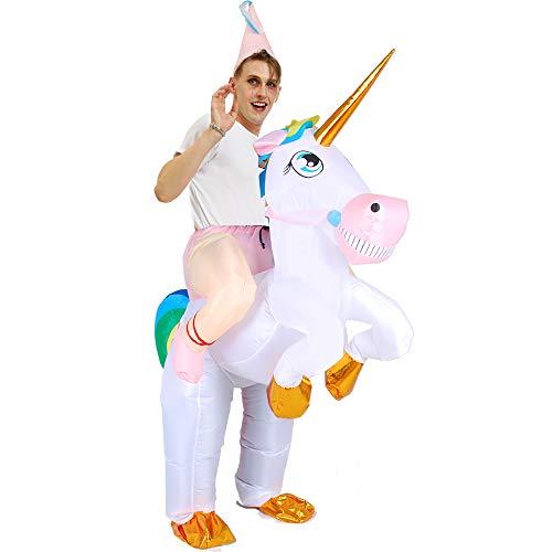 Halloween Costume Blow Up Costume Inflatable Unicorn Rider Costumes Ride on Animal Costumes