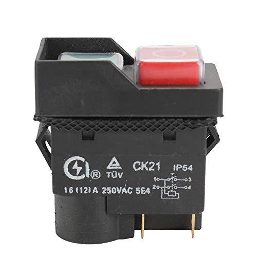 KKmoon 250V Interruptor de seguridad universal CK21B / 250V, a prueba de agua y polvo Interruptor electromagnético para máquina de molienda