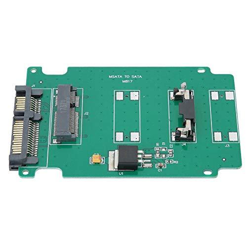 ASHATA MSATA SSD zu SATA3 Konverter Adapter Adapterkarte für Laptop Notebook Computer, MSATA SSD zu SATA3 Adapterkarte für WinXP/Vista/Win7/Win8 32bit/64bit, für MAC10.8