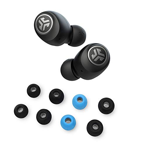 JLab Audio Go Air True Wireless Bluetooth Earbuds with Charging case + Cloud Foam Mnemonic Earbud Tips