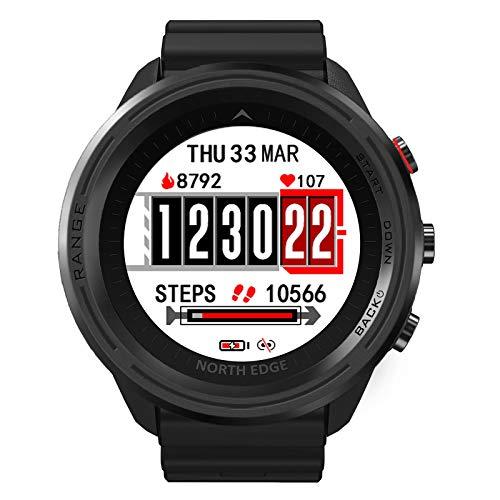 LKM Smart Sports GPS al Aire Libre GPS Reloj Impermeable Altitud Presión de Aire Compass Termómetro Tasa del corazón Multifuncional Reloj de Buceo,A