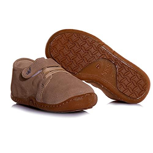 ebebek BabyWalk First Walking - Zapatos de bebé para niñas y niños, color Beige, talla 19 EU