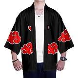 Kimono Naruto Estampado Cardigan Camisa Uchiha Sasuke Hokage Cosplay Tshirt Japonés Elegante Kimono Albornoz Verano Pijamas