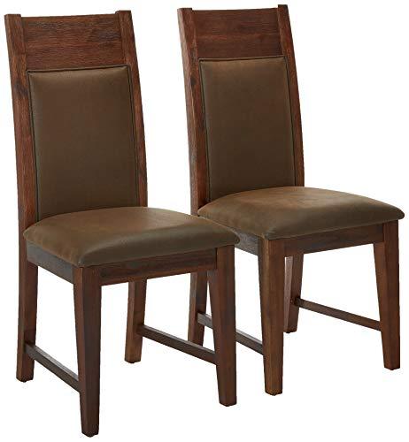 Alpine Furniture Pierre Dining Chair, Brown