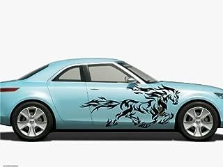 Vinyl Decal Mural Sticker Car Side Graphics Tribal Tattoo Mustang Horse D23