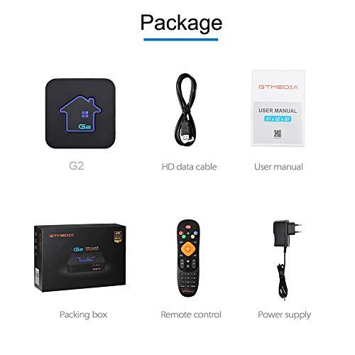 GT MEDIA G2 4K Android 7.1.2 TV Box, Amlogic S905W 2GB RAM+16GB ROM Quad-Core 3D / HEVC H.265 / MPEG-4 / WiFi 2.4G / Ethernet, Unterstützt Netflix YouTube GTplayer Smart TV Box