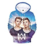 Marcus and Martinus Mäntel Sweatshirt mit Kapuze Hipster Eltern-Kind tragen Gedruckt Popular Tops Plus Samt Pullover Marcus and Martinus Kapuzenpullover (Color : A01, Size : 140)