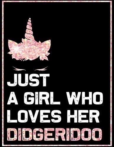 Just a Girl who loves her Didgeridoo Blank Sheet Didgeridoo Wide Staff Manuscript Paper Notebook product image