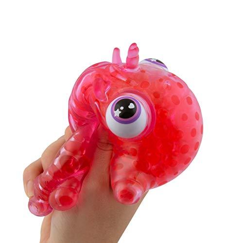 Orb 36207 Bubbleezz Animalzz Mega Red Unicorn,Squeezy Spielzeug, Glibber Knautschfigur Zum Drücken Und Quetschen, Schleimtier Ca. 15 Cm, Slime Quetschfigur Für Kinder Ab 8 Jahre, Rot