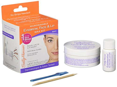 Sally Hansen 5001 Eyebrow Face Lip Stripless Face Wax Kit Pack Of 1