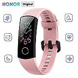 Honor Band 5 Activity Tracker 0,95' Schermo AMOLED a Colori 50M Waterproof Heart Rate Monitor Wristbands Bracelet per Diverse modalità Sportive (Rosa)