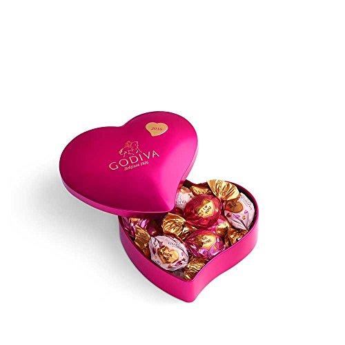 valentines chocolates Godiva Chocolatier Valentines Day Keepsake Heart Tin