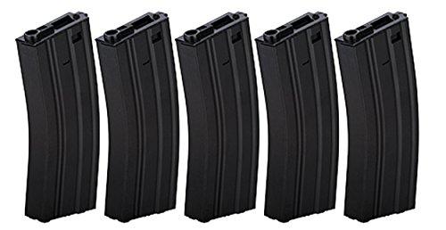 Box of 5 - Gen2 LT-01B Metal M4/M16 300 Round Hi-Cap AEG Airsoft Magazine (Black)