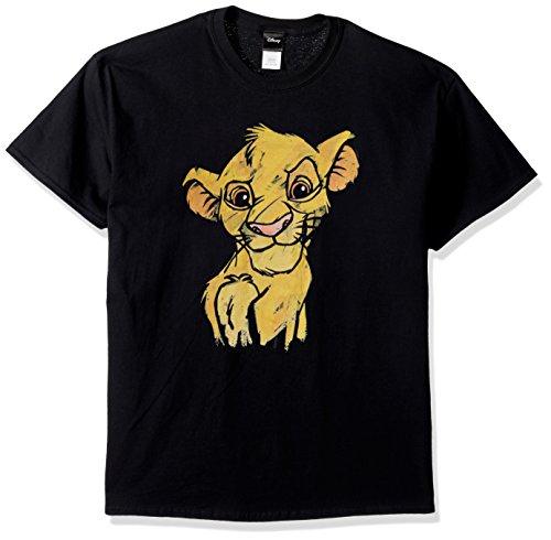 Disney Herren Lion King Simba Sketch Crown Prince Graphic T-Shirt Hemd, schwarz, 4X-Groß