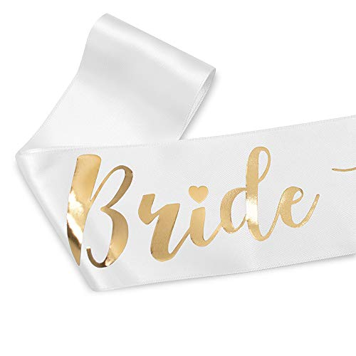 YULIPS Bride To Be Sash - Bachelorette Party Sash Bridal Shower Hen Party Wedding Decorations Party Favors Accessories