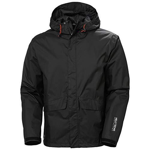 Helly Hansen Men s Workwear Manchester Rain Jacket, Black - XL