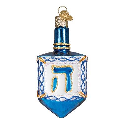 Old World Christmas Hanukkah Glass Blown Ornaments for Christmas Tree Dreidel