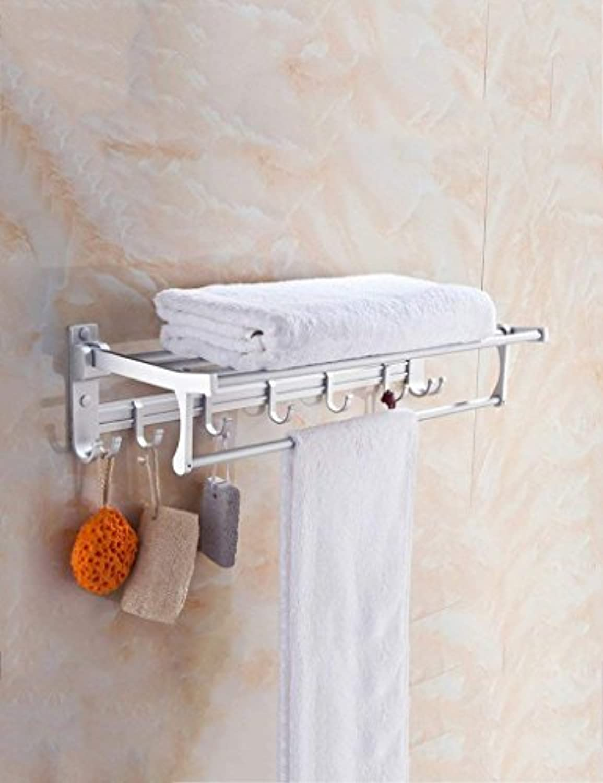 XQY Hochwertiges Küchen-Badezimmer-Regal, Raum-Aluminium-faltender Tuch-Zahnstangen-Badezimmer-Tuch-Zahnstangen-Multifunktionszahnstangen-Hardware-Anhnger, die Qualitt, Tuch-Zahnstange sicherstelle