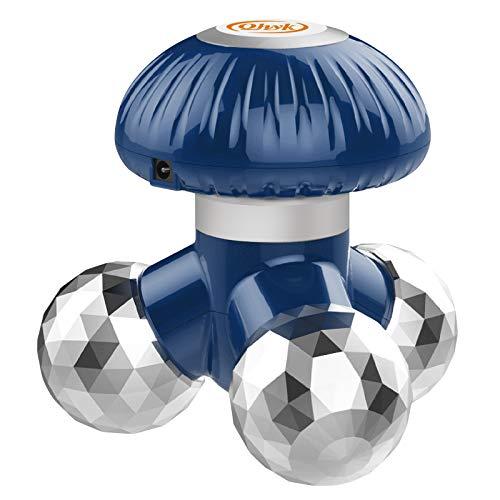 QHYK Handheld Vibrate Massager con 12 cabezas de masaje de masaje, Batería o USB Power Proporcionar electricidad, Aliviar Cuerpo o tensión muscular, Full Body Massager portátil, azul