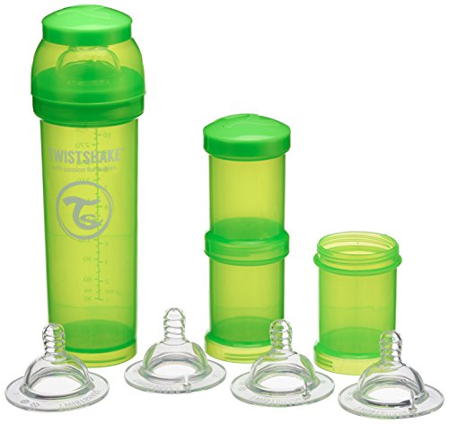 Vital Innovations 78102 Twist Shake Kit de gourde 330 ml, Vert