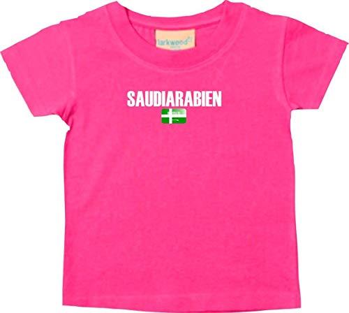 Bébé Enfants Tee-Shirt Football Pays Arabie Saoudite - Rose, 12-18Monate