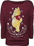 Winnie The Pooh Flowers Frauen Langarmshirt rot 4X