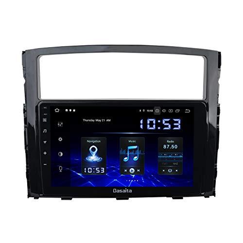 Dasaita 9 'Android 10.0 Unità Testa per Mitsubishi Pajero 2006 a 2013 Radio Stereo Touch Screen HD 1028 * 720 Navigazione GPS Nero
