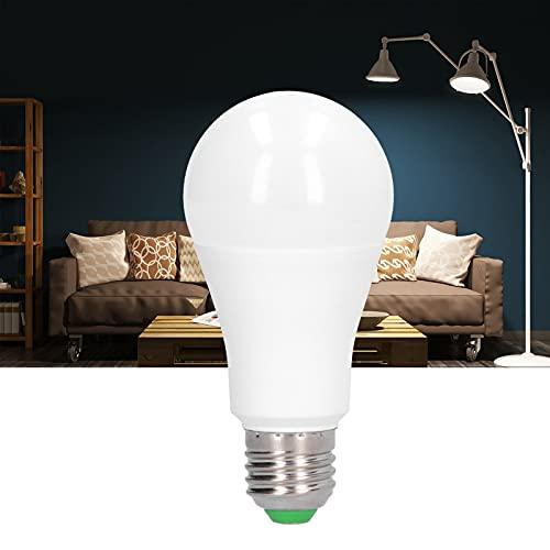 XQAQX Blub LED, Bombilla de lámpara Bluetooth, Bombilla Regulable, Bombilla Inteligente LED E27 de 15W Bombilla de luz Regulable con Control Bluetooth RGB para Barra de hogar 85-265V(White)