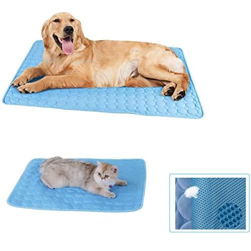 DBAILY Alfombrilla Refrigeración Animales, Manta Refrigerante Perro Alfombrilla Colchoneta Gato Azul Verano Frio Colchon para Perros Y Gatos