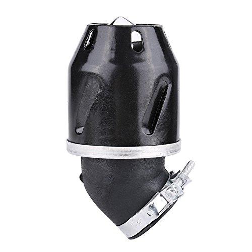 Motorrad Luftfilter, Akozon 35mm Aluminiumlegierung Luftfilterreiniger Universal Cleaner Einlass für Motorrad Roller ATV Dirt Bike(Schwarz)