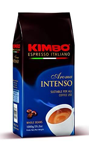 Kimbo Intenso ganze Kaffeebohnen, Ideal für Espresso, 1kg Beutel