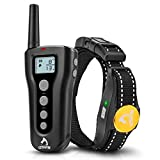 PATPET Shock Collars for Dogs with Remote Waterproof Dog Training Collar Rechargeable w/3 Training Modes, Beep, Vibration and 16 Shock Level Up to 1000Ft Range for Small Medium Large Dogs