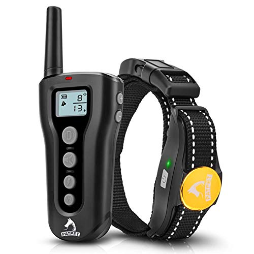 PATPET Dog Training Collar with Remote and Rechargeable Waterproof Shock Collar And Training Collar With 3 Training Modes