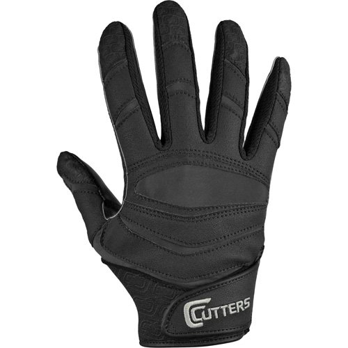 Cutters Gloves C-TACK Revolution Solid Football Gloves (Black, Small)