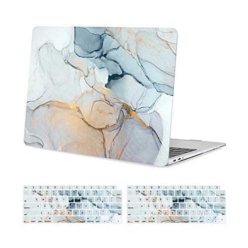 MOSISO MacBook Air 13 inch Case 2020 2019 2018 Release A2337 M1/A2179/A1932, Plastic Hard Shell, Keyboard Cover Compatible with MacBook Air 13 inch with Retina Display&Touch ID, Gray Ink Painting