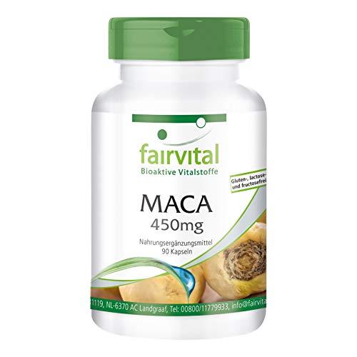 Maca 450mg - Lepidium meyenii - Radice di Maca gialla 4:1 - VEGAN - alto dosaggio - 90 Capsule